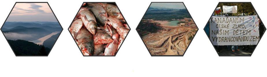 Zničená krajina po těžbě zlata v zahraničí